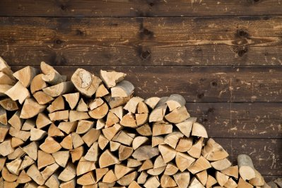 Stored Wood piles